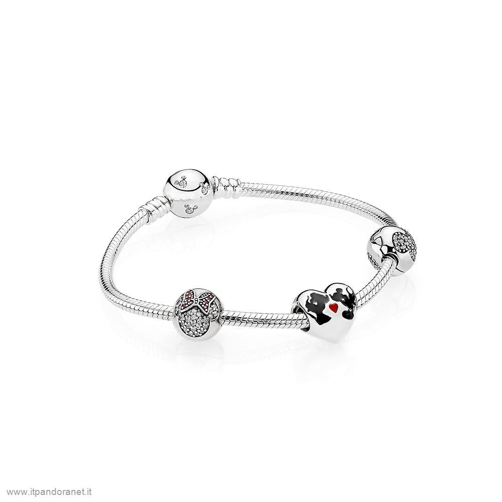 PANDORA Acquista Sconto Il Bacio Di Mickey Mouse E Minnie