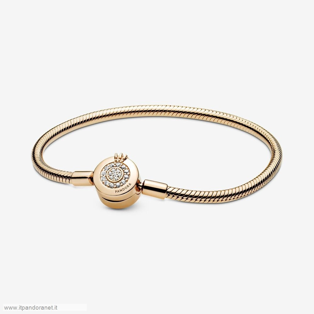 PANDORA Acquista Sconto Pandora Moments Scintillante Corona O Catena Di Serpenti Shine Bracciali